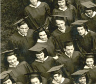 enlarged left side of June, 1943 grad photo