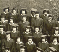 enlarged right side of June, 1943 grad photo