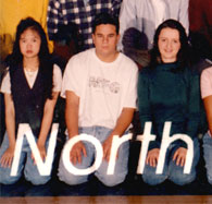 enlarged center section of 1996 grad photo