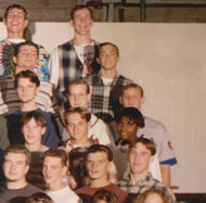 enlarged right side of 1996 grad photo
